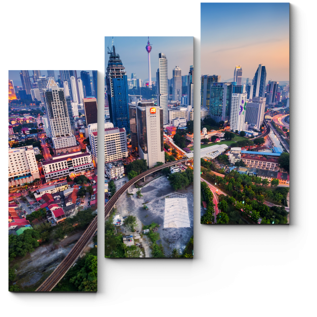 Модульная картина Сплетение дорог у Куала-Лумпур