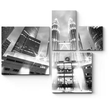 Монохромное сияние Куала-Лумпур