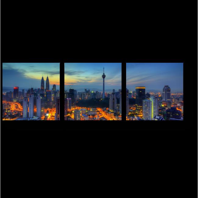 Модульная картина Засыпающий Куала-Лумпур