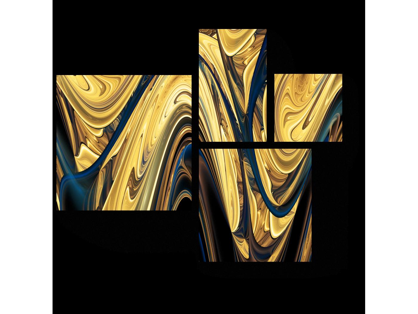 Модульная картина Раскаленный металл (72x60) фото