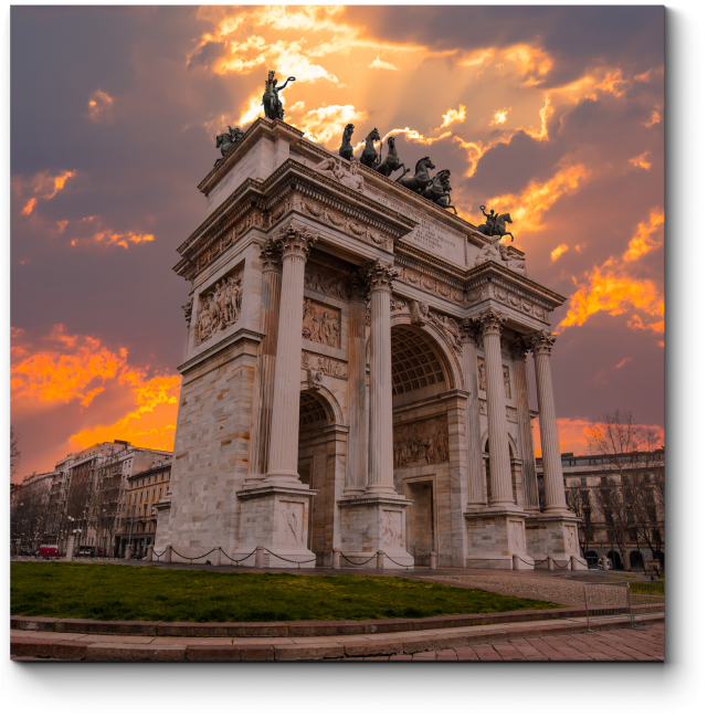 Модульная картина Прогулка по вечернему Милану