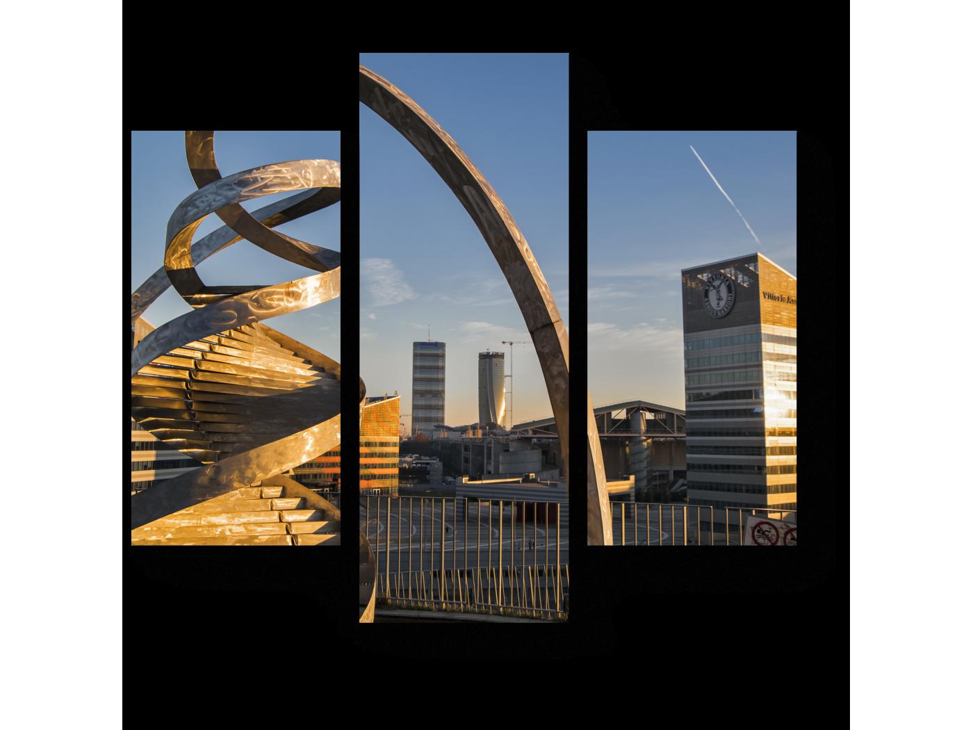 Модульная картина Инсталяция из закрученного металла, Портелло Парк, Милан (60x54) фото