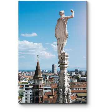 Вид с крыши Миланского собора