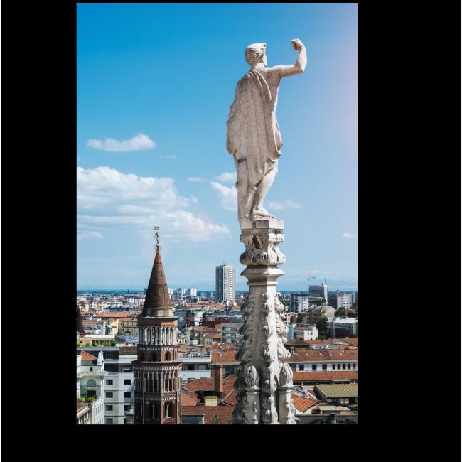 Модульная картина Вид с крыши Миланского собора