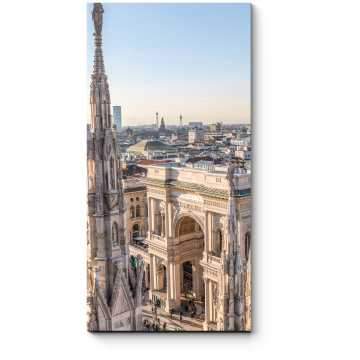 Милан с высоты пркрласен