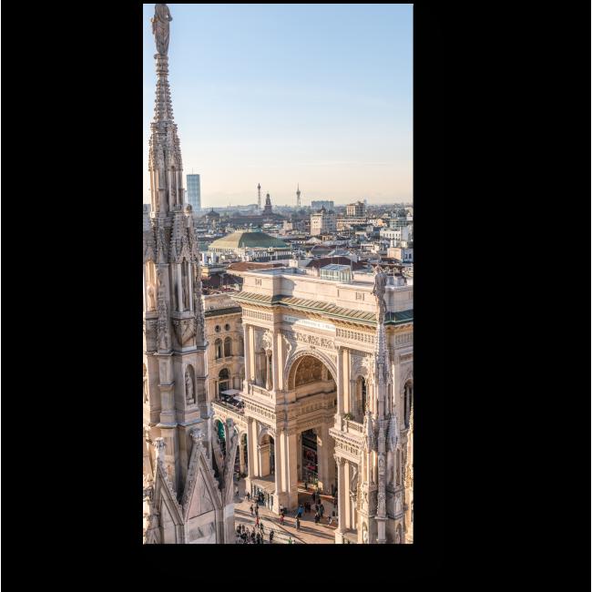 Модульная картина Милан с высоты пркрласен