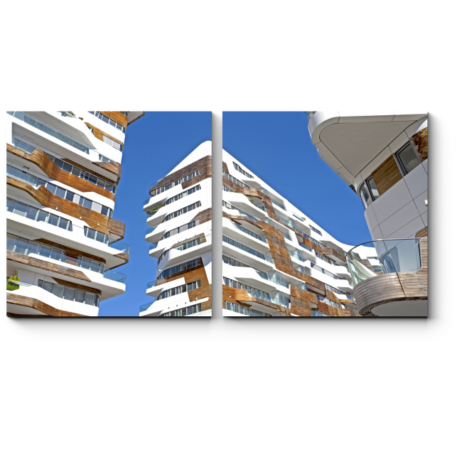 Модульная картина Современный жилой район Милана