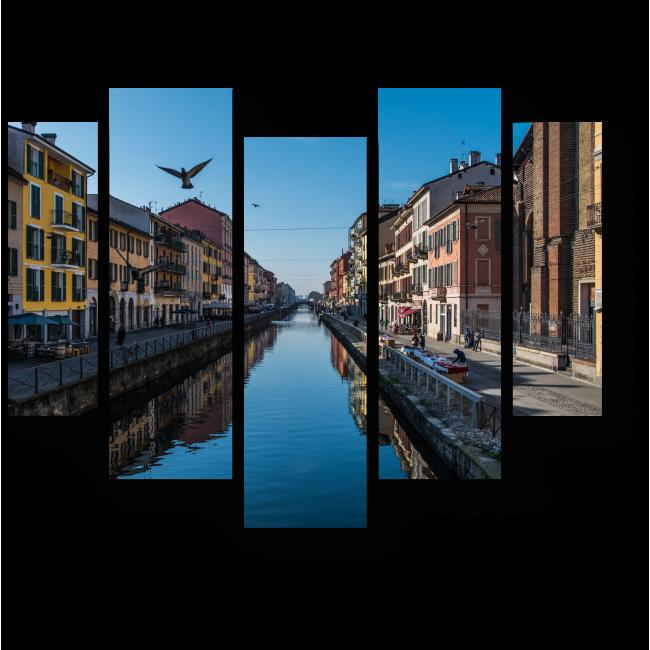 Модульная картина Большой канал Милана