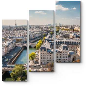 Модульная картина Пролетая над Парижем