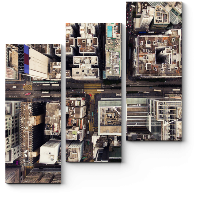 Модульная картина Вид с нереальной высоты