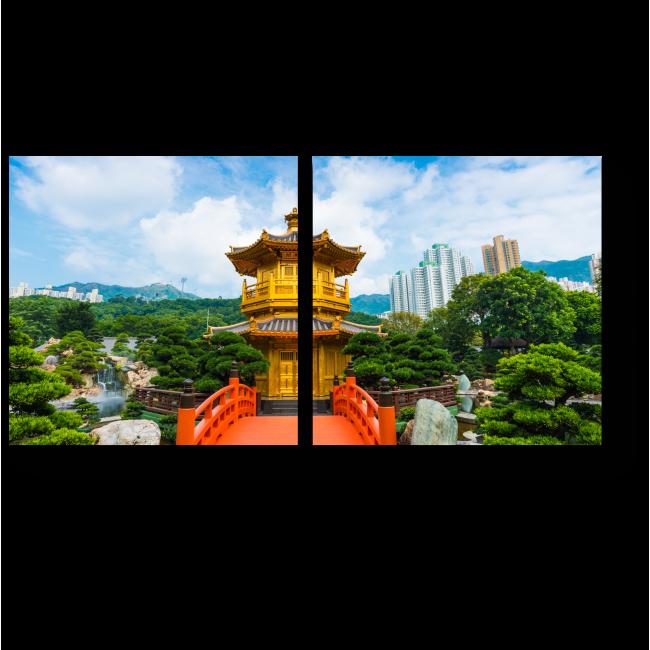 Модульная картина Великолепие Гонконга