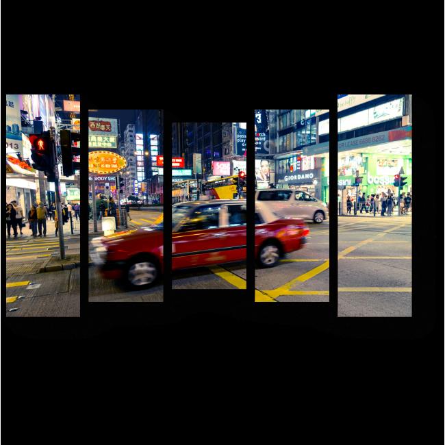 Модульная картина Вечерний Гонконг