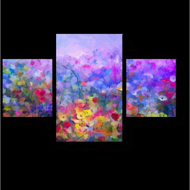 Модульная картина Луговая абстракция