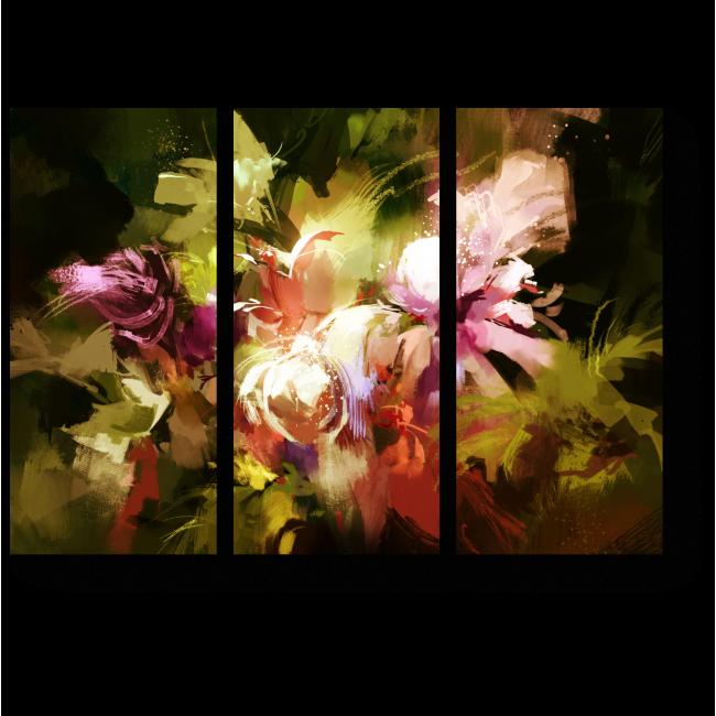 Модульная картина Тропическая абстракция