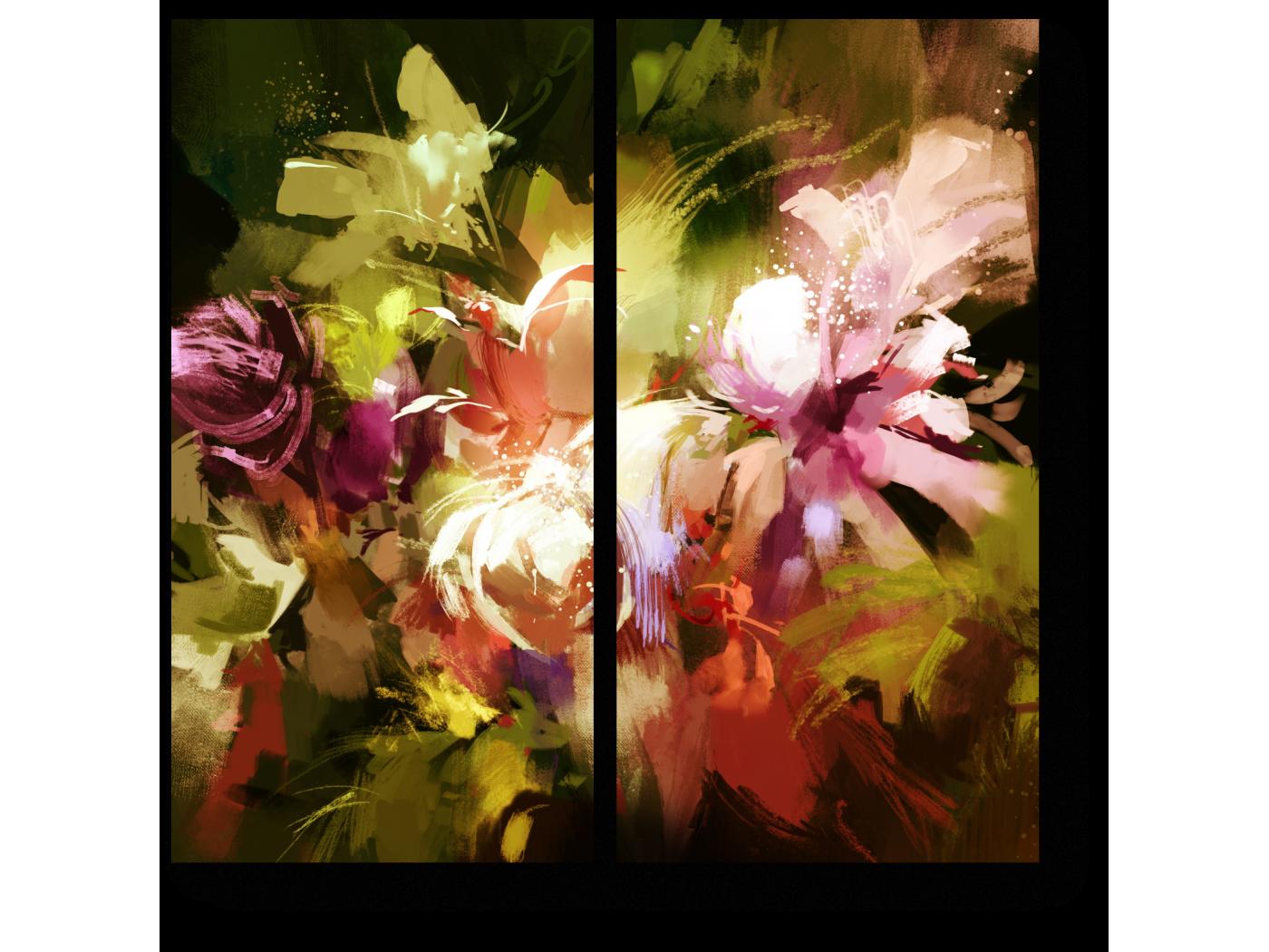 Модульная картина Тропическая абстракция (40x40) фото