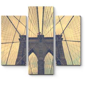 Модульная картина Винтажный Бруклинский мост