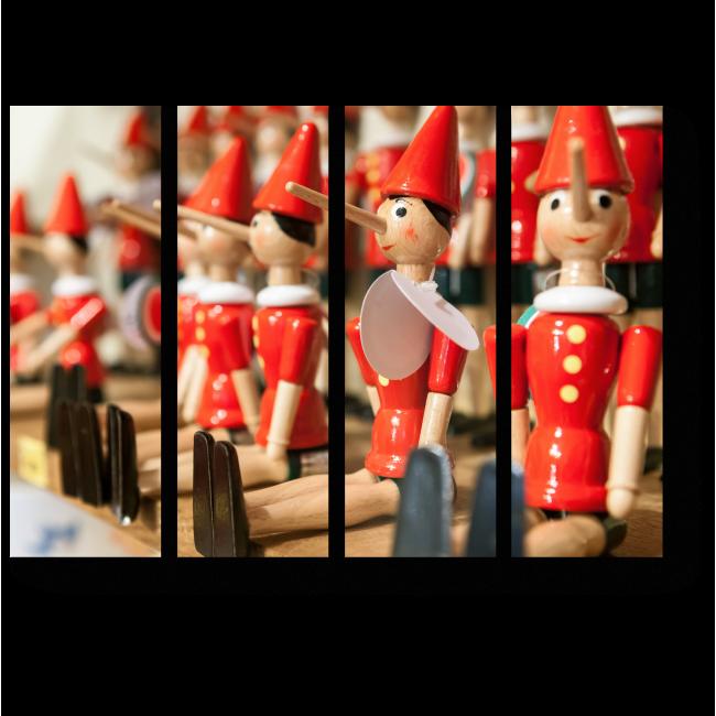 Модульная картина Традиционный итальянский Пиноккио