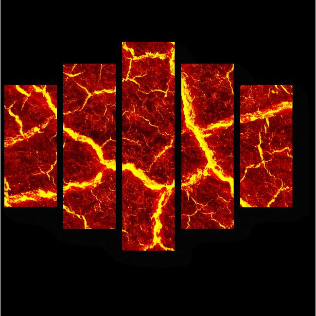 Модульная картина Горящая лава