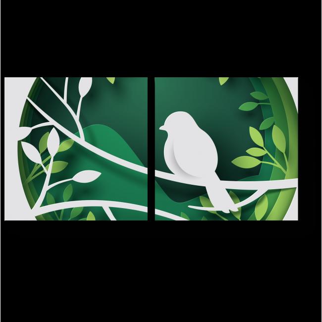 Модульная картина Поющая пташка