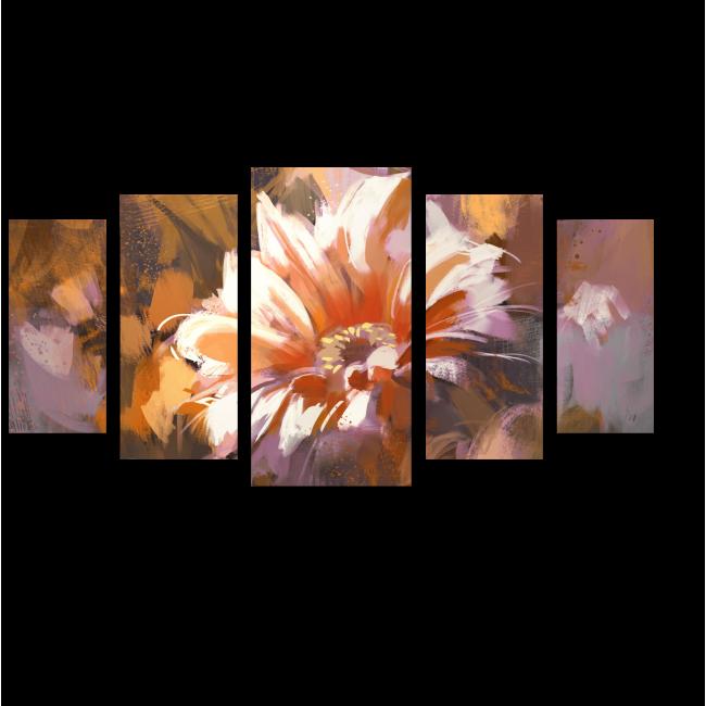 Модульная картина Винтажный букет