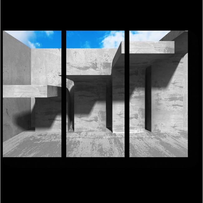 Модульная картина Бетонные лестницы