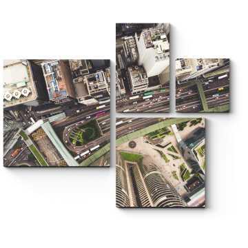 Модульная картина Высоко-высоко над Гонконгом