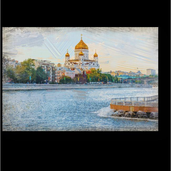 Модульная картина Москва глазами влюбленного художника
