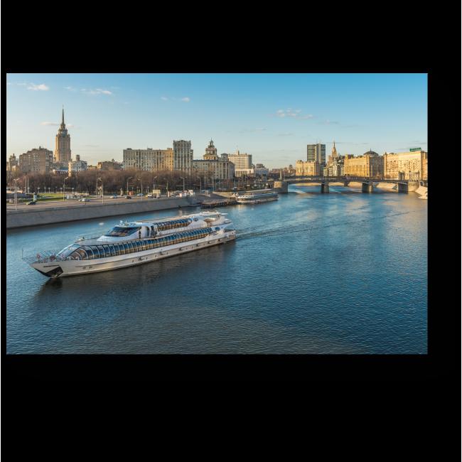 Модульная картина Путешествие по Москва реке
