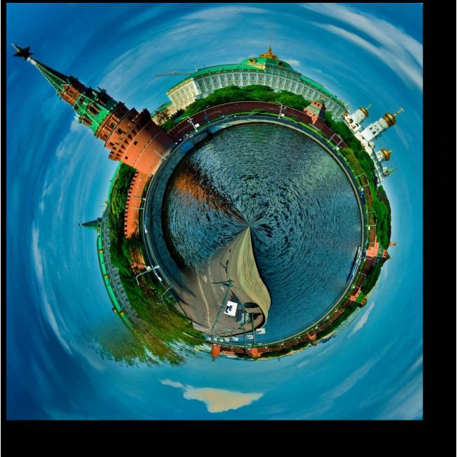 Модульная картина Планета Москва