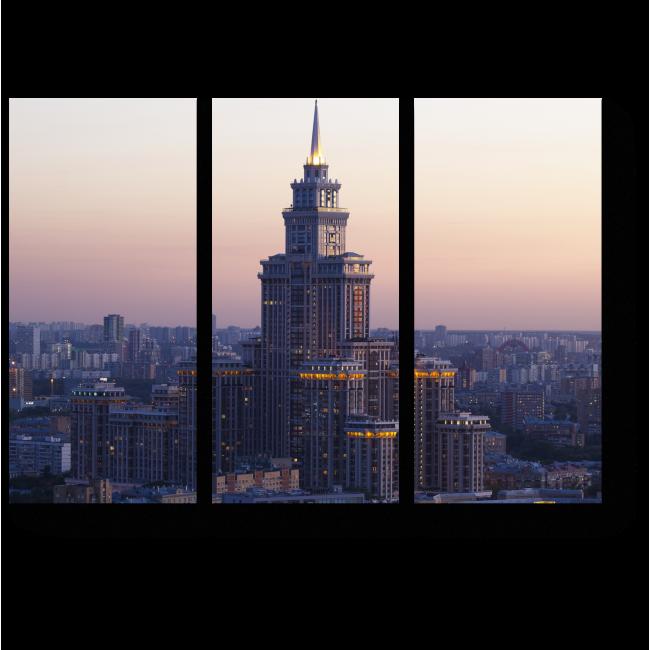 Модульная картина Чарующие виды Москвы