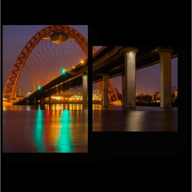 Модульная картина Мост через Москву реку