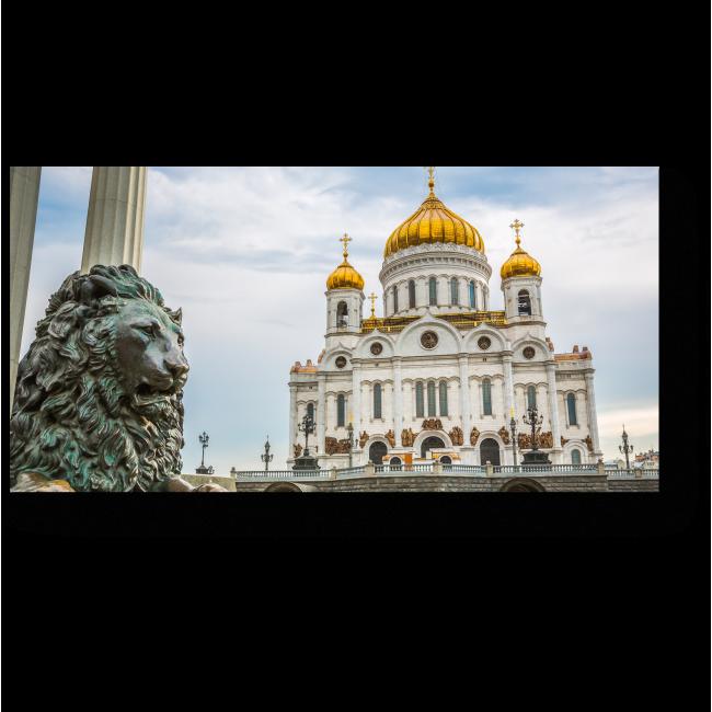 Модульная картина Храм Христа Спасителя в Москве