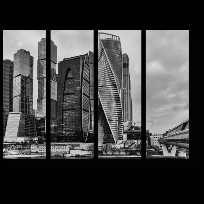 Модульная картина Московский бизнес центр