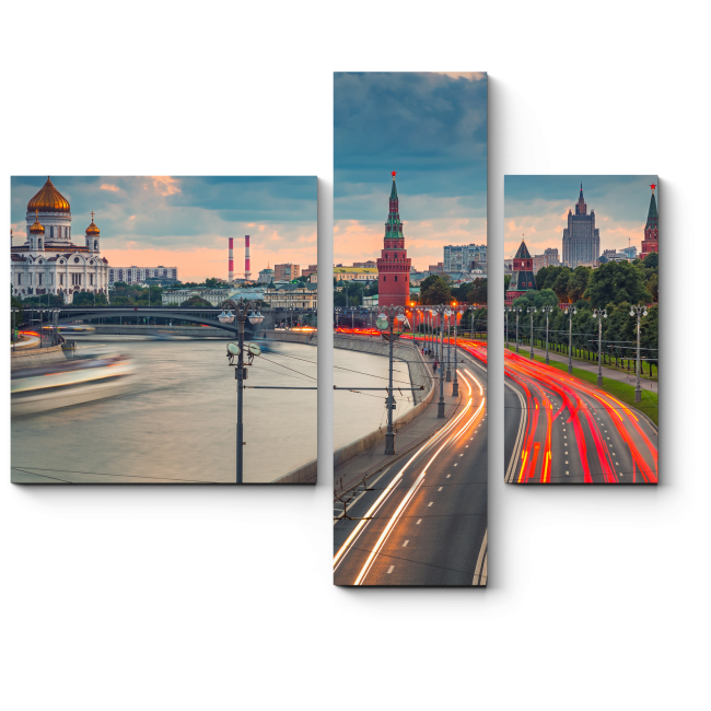 Модульная картина У стен Кремля