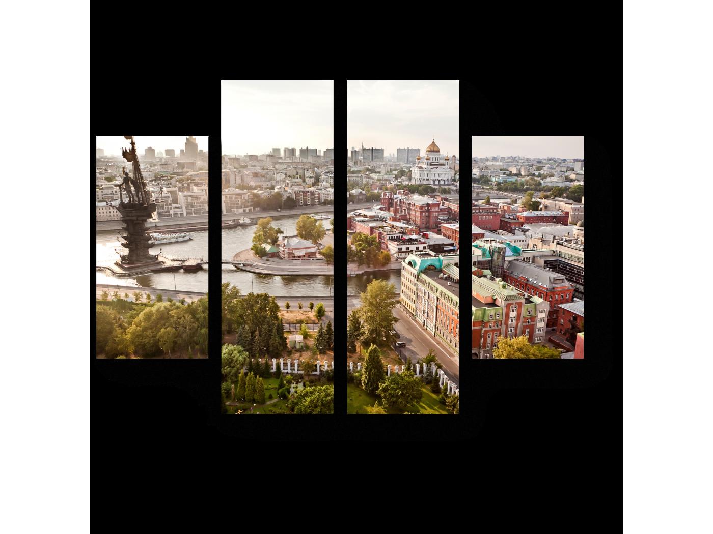 Модульная картина Панорама Москвы (80x60) фото