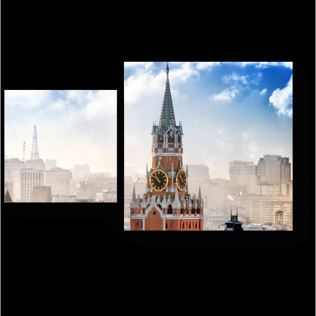 Модульная картина Спасская Башня