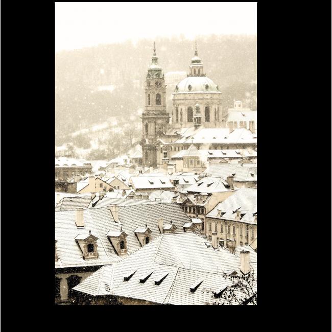 Модульная картина Зимняя Прага