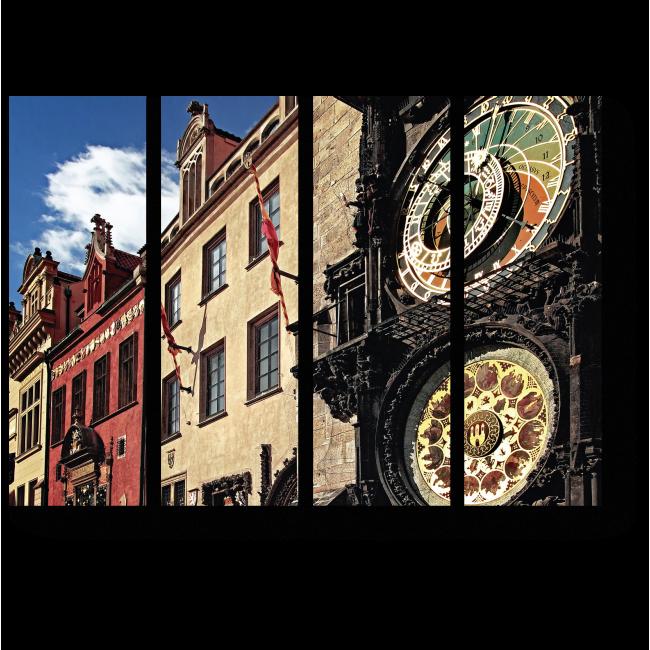 Модульная картина Астрономические часы