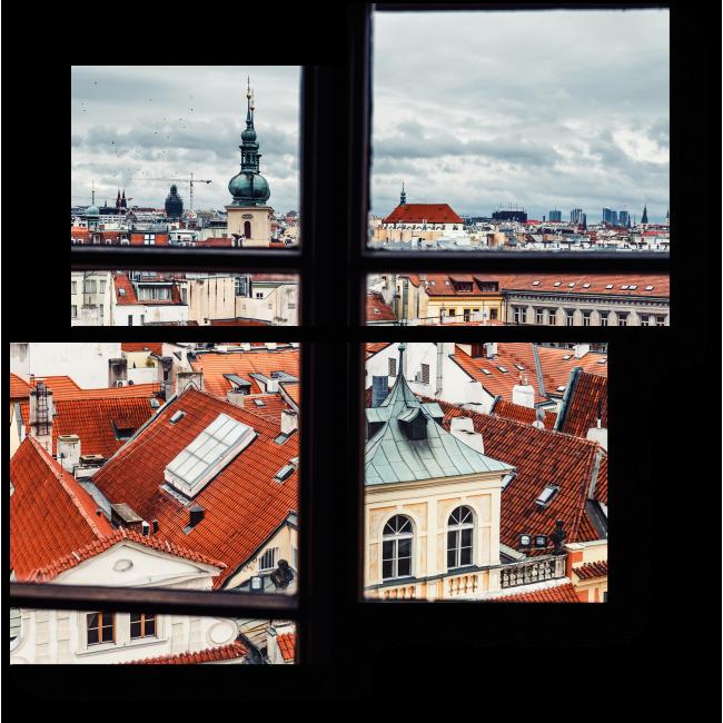 Модульная картина Чудесный вид из окна