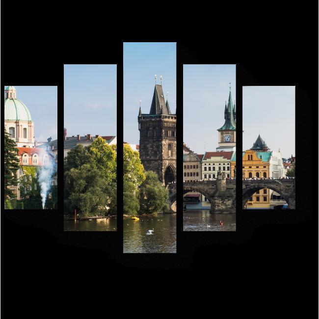 Модульная картина Неподражаемый вид на Карлов мост
