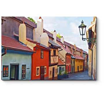 Модульная картина Живописные улочки Праги