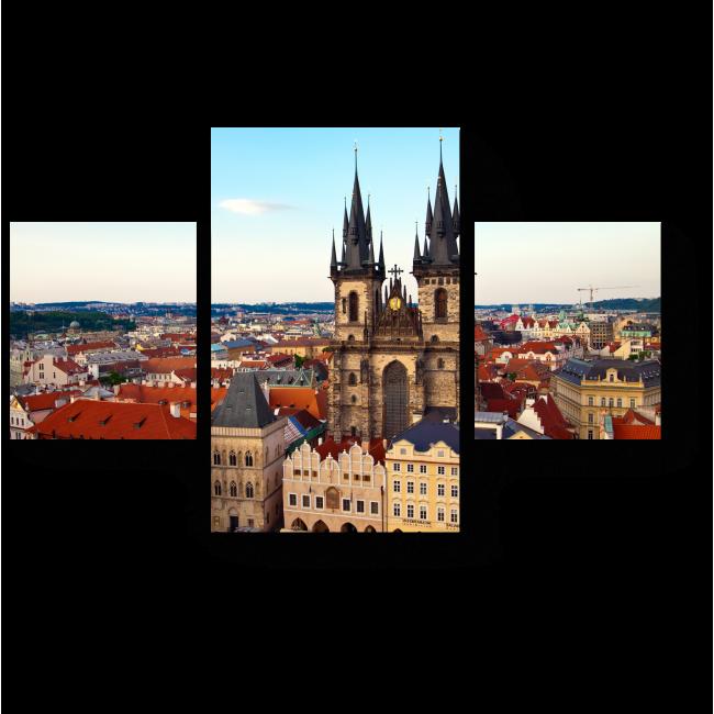 Модульная картина Красота Праги