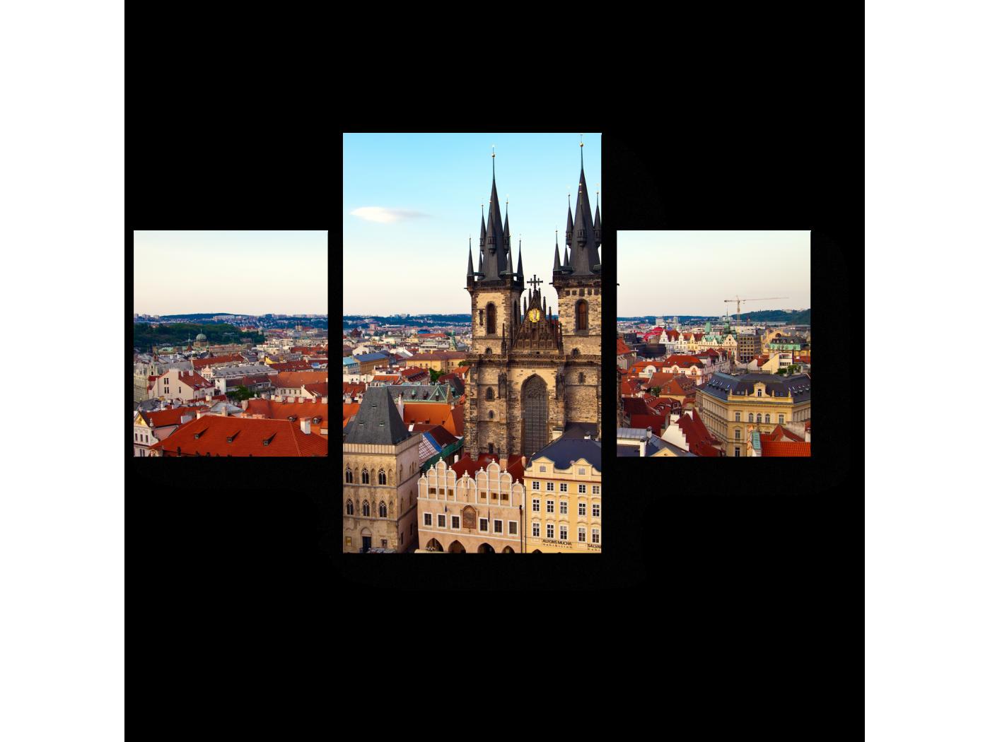 Модульная картина Красота Праги (80x52) фото