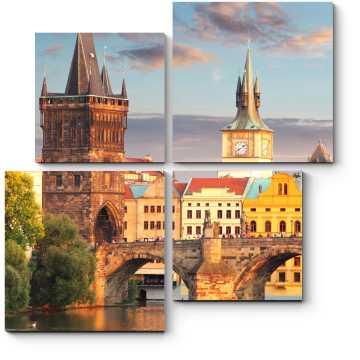 Модульная картина Прекрасный вид Праги