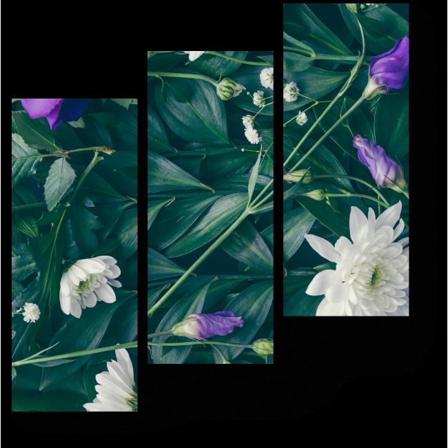 Модульная картина Белые цветы хризантем