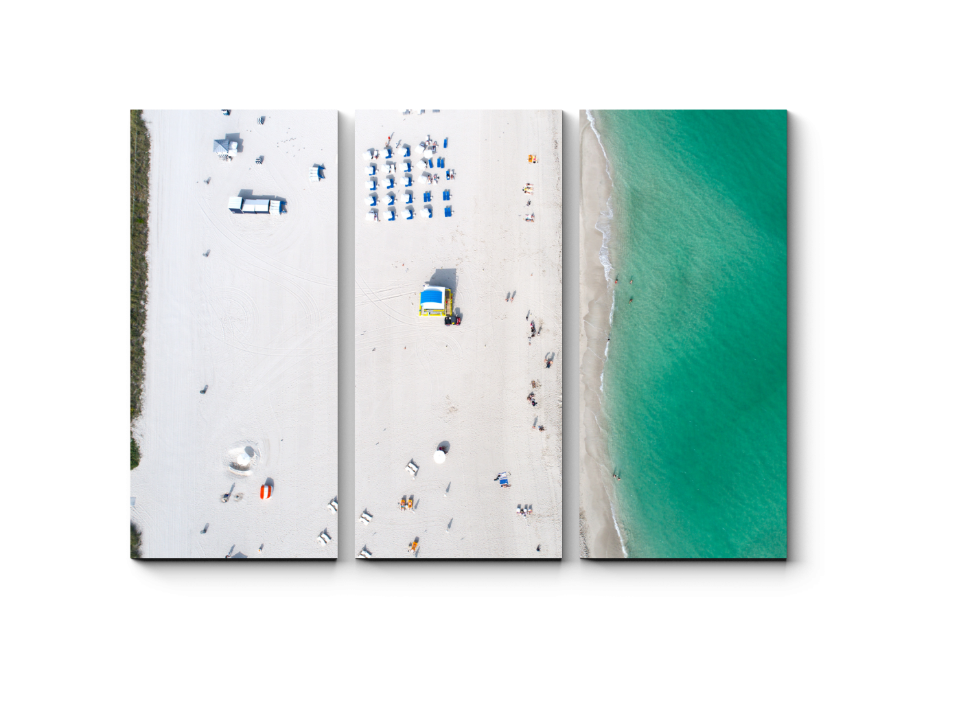 Модульная картина Пляж с высоты птичьего полета (60x43) фото