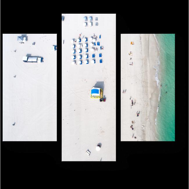 Модульная картина Пляж с высоты птичьего полета