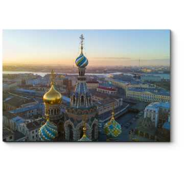 Модульная картина Северная Столица на закате