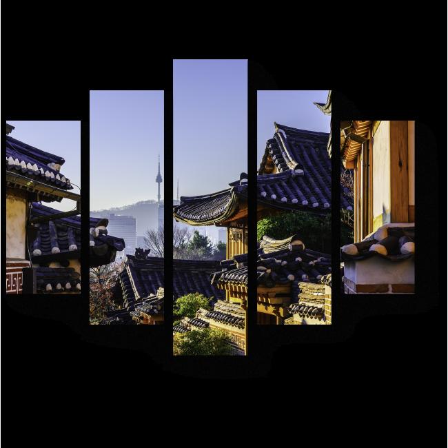 Модульная картина Великолепный Сеул