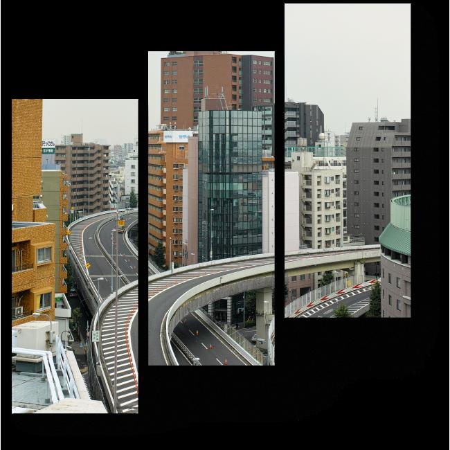 Модульная картина Жилые многоэтажки Токио